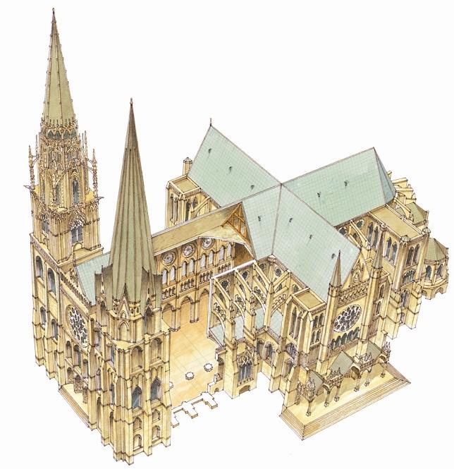 Resultado de imagen para Planta de la catedral de Chartres