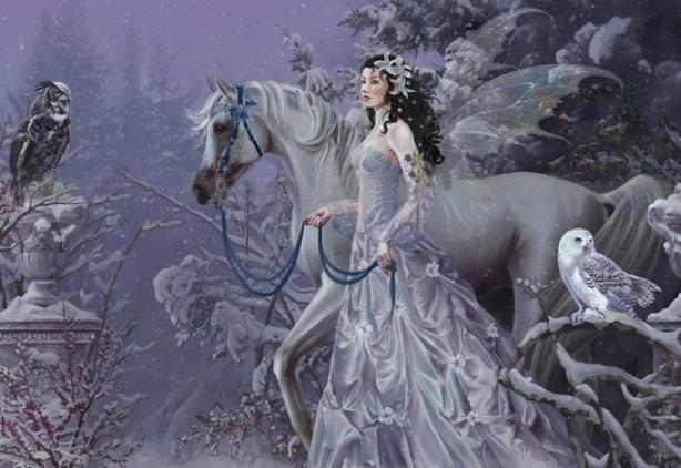Hada con caballo